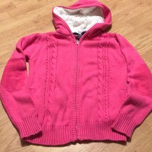 Nautica Girls sweater hoodie size 10 pink